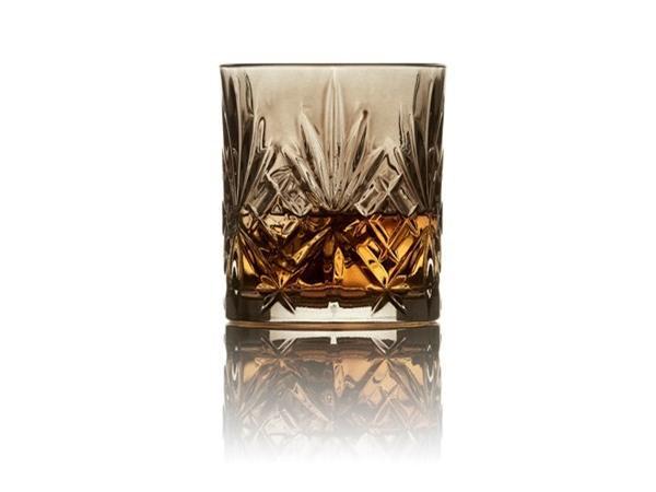 Lyngby Glas Melodia Krystal Whiskyglas 4 stk Sort