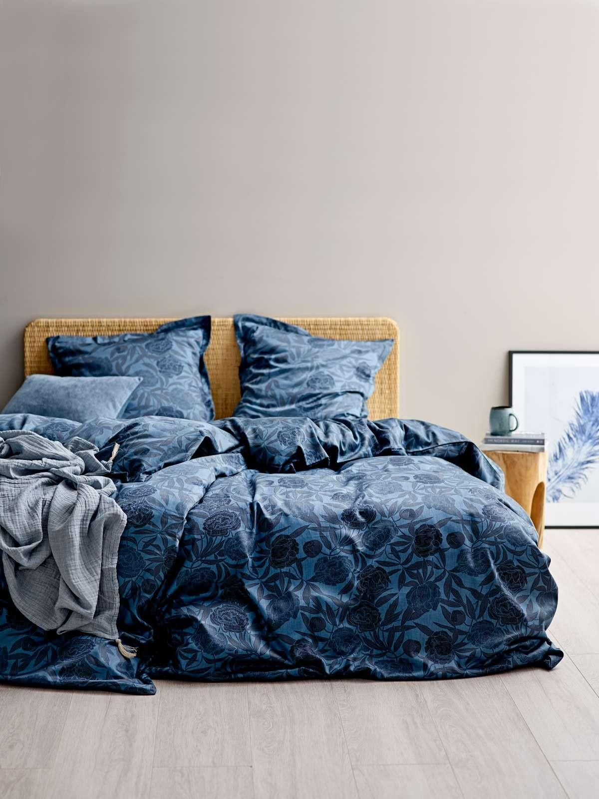 Picture of: Sodahl Organic Tapestry Sengetoj 200 X 220 Cm Indigo